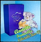 Click here to enlarge image and see more about item 08212005af: Lavender Mohair Annette Funicello Izza & Bell