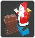 Click here to enlarge image and see more about item 08212006118: Cast Iron Santa Claus Money Bank Taiwan