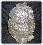 Click here to enlarge image and see more about item 08212006122: BANK - Vintage Glass Wise Old Owl Bank