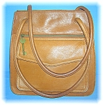 Bag Fossil Light Tan Leather Roomy tote