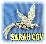 SARAH COVENTRY Borealis Rhinestones Bird Brooch