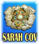 Click to view larger image of Goldtone Signed Sarah Coventry Flower Brooch (Image1)