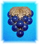 Click to view larger image of Dress Clip Plastic Lucite Blue Grapes   (Image1)