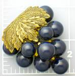 Click to view larger image of Dress Clip Plastic Lucite Blue Grapes   (Image7)