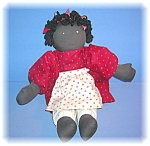 Click here to enlarge image and see more about item 0821200694: Black Folk Art Doll Handmade By Danielle