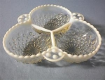 Candy Dish Opalescent 3 Part USA