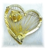 Click to view larger image of Gold BROOKS Heart & Rose Brooch (Image2)
