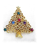 Brooch Pin  JJ Christmas Tree