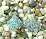 Click to view larger image of Sterling Silver Mosaic Inlay screw back  Earrings (Image8)