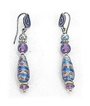 Sterling Silver Venetian Bead Earrings