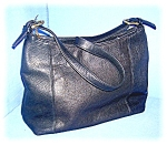Click to view larger image of Hand Bag Purse Black Leather Sonoma Jean Co  (Image1)