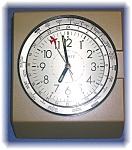 Click to view larger image of Battery Operated Aeroplane Clock With World Timezones. (Image1)