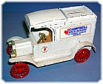 Click here to enlarge image and see more about item 0827200660: BANK - ERTL Metal Replica 1913 Model T Van Bank