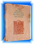 Click here to enlarge image and see more about item 08272006a: 1932 Handy Standard Dictionary and Atlas