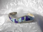 Opal Sterling Silver Sugulite JEME Cuff
