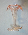Click here to enlarge image and see more about item 0830200744: Pink Glass Handblown Flower Holder