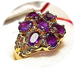 Amethyst Gold Vermeil Sterling Silver  Ring