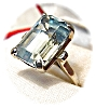 Click to view larger image of  Ring Aquamarine  Emerald Cut 14K White Gold (Image2)