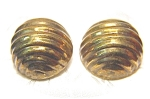 Click here to enlarge image and see more about item 0901200311: Large Brass Clip Earrings