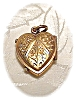 Click to view larger image of Heart Picture Locket Gold Fill with Ruby/Garnet (Image2)