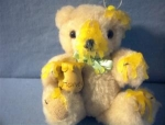 Click here to enlarge image and see more about item 0902200248: Small Jointed Honey Bear Teddy