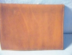 Click here to enlarge image and see more about item 0902200261: Dark Tan Italian Leather Mens Wallet