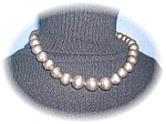 Click to view larger image of Necklace Vintage Sterling Silver Graduated Beads (Image1)