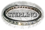 Click to view larger image of Sterling Silver Foil Back Crystals Bracelet (Image1)