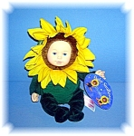 Click here to enlarge image and see more about item 0905200613: BABY SUNFLOWER ANNE GEDDES DOLL
