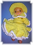 VINTAGE DOLL HAND MADE CROCHET