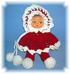 Click to view larger image of HAND CROCHET DOLL PLASTIC FACE (Image1)