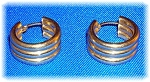 Earrings14K Gold 3/4 Inch Hoop Pierced Signed MW