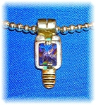 Click to view larger image of Pendant Sterling Silver faceted Amethyst Gold  (Image1)