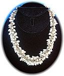 Click to view larger image of Necklace Sterling Silver Freshwater Pearls Drops (Image1)