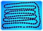 Click to view larger image of French Jet Glass 76 Inch Handknotted Flapper Necklace (Image1)