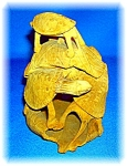 Signed Wooden Oriental Multi Turtle Carving