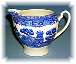 Click to view larger image of ALFRED MEAKIN OLD WILLOW BLUE CREAMER PITCHER ENGLAND (Image1)