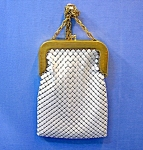 Click to view larger image of Whiting & Davis Gold White Alumesh Bag.. (Image1)