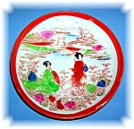 Click here to enlarge image and see more about item 0907200603: Geisha Girl Porcelain Saucer