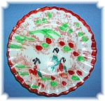 Geisha Girl porselain saucer, 4 in.
