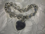 Bracelet Sterling Silver  Link Heart Charm