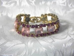 Click here to enlarge image and see more about item 0908200244: 7 Inch Bubble Gum Pink WEISS Bracelet