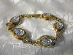 Beautiful Pear Shaped Crystal KRAMER Bracelet