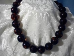 Lucite Amber Color Bead Necklace