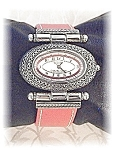 Click to view larger image of Wristwatch Sterling Silver Pink Leather Band ECCLISI (Image1)