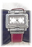 Click here to enlarge image and see more about item 0908200507: Sterling Face Ecclissi Red Band Watch