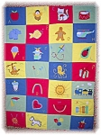 Click here to enlarge image and see more about item 0908200601: HANDMADE BABY CRIB ALPHABET QUILT