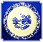Click to view larger image of Syracuse Restaurant  China Dinner Plate Blue Oriental P (Image1)