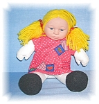 Click to view larger image of 14 Inch Gold Wool Hair ANNE GEDDES DOLL (Image1)