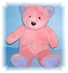 Click to view larger image of 17 Inch Soft & Cuddly Pink & Lavender Bear (Image1)